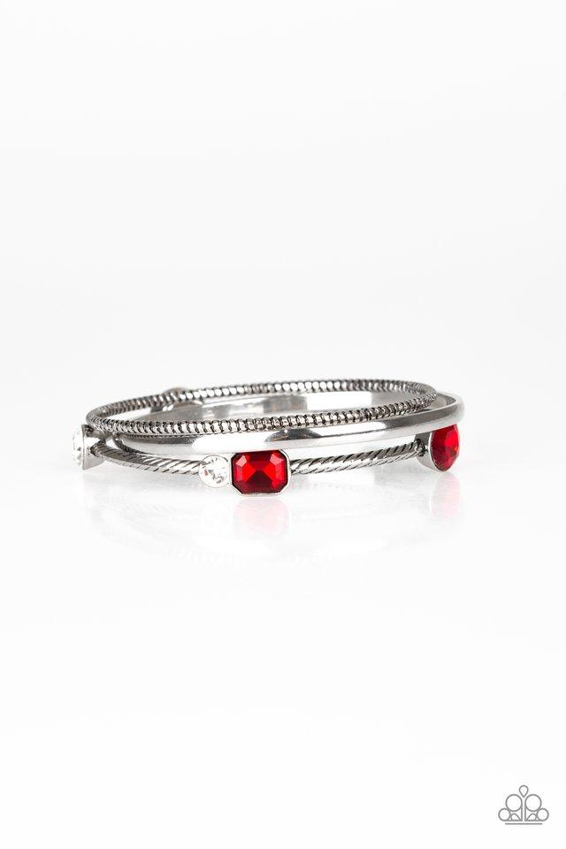 Paparazzi Bracelet ~ City Slicker Sleek - Red