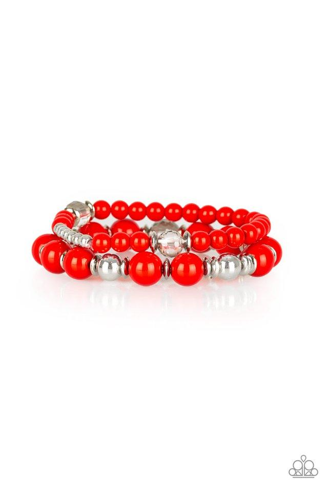 Paparazzi Accessories ~ Colorful Collisions - Red