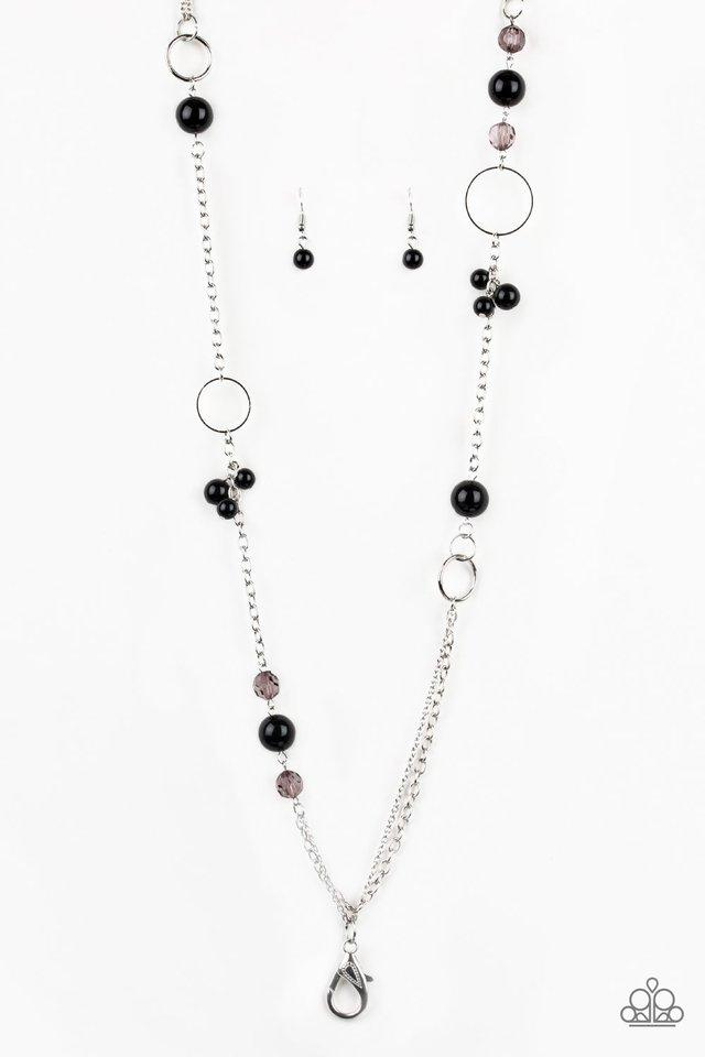 Paparazzi Necklace Lanyard ~ Pageant Princess - Black