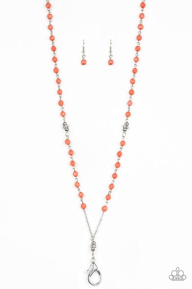 Paparazzi Accessories ~ Tassel Takeover - Orange Lanyard