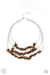 Paparazzi Necklace ~ Eco Goddess - Brown