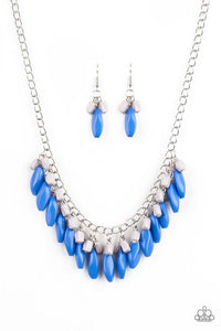 Paparazzi Necklace ~ Bead Binge - Blue
