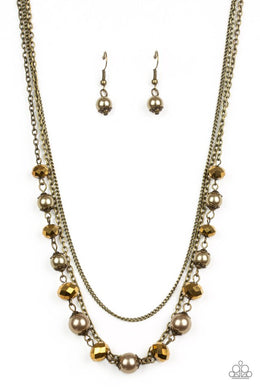Tour de Demure - Brass - Paparazzi Necklace Image