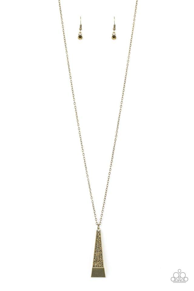 Paparazzi Accessories ~ Prized Pendulum - Brass