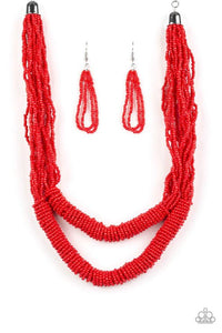 Paparazzi Accessories ~ Right As RAINFOREST - Red