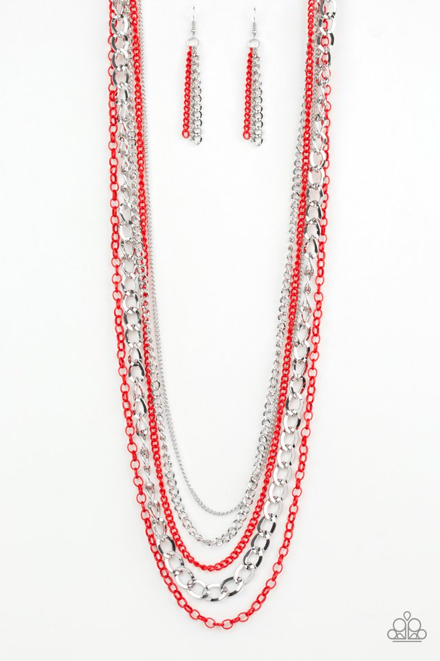 Paparazzi Necklace ~ Industrial Vibrance - Red