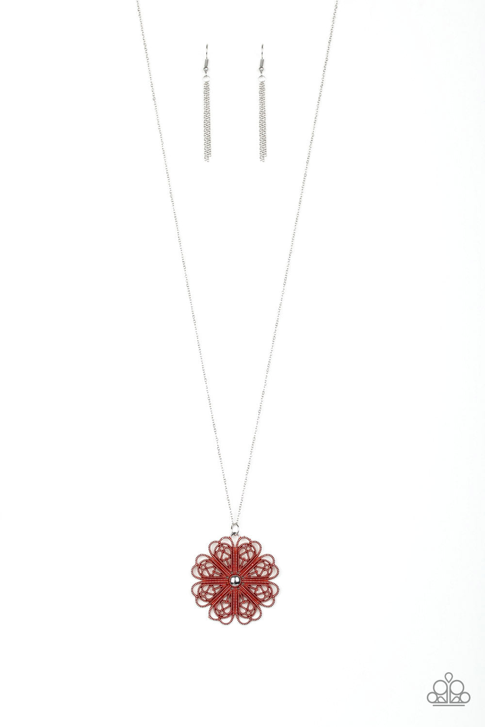 Paparazzi Necklace ~ Spin Your PINWHEELS - Red