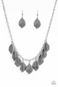 Paparazzi Necklace ~ A True Be-LEAF-er - Silver
