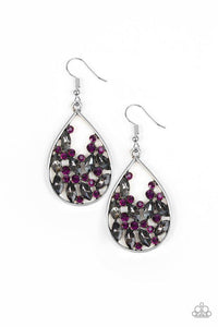 Paparazzi Earring ~ Cash or Crystal? - Purple
