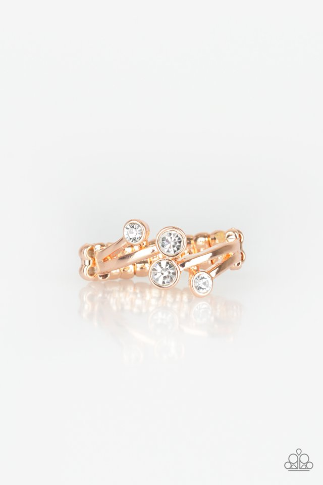 Paparazzi Ring ~ GLOWING Great Places - Rose Gold