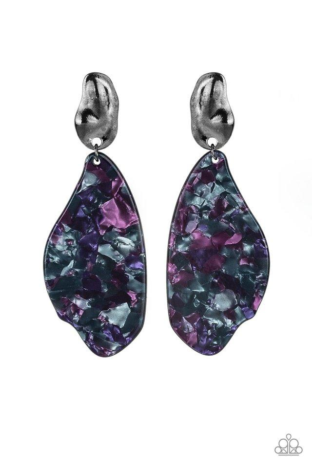 Paparazzi Earring ~ Fish Out Of Water - Purple