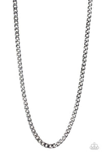 Paparazzi Necklace ~ Delta - Black