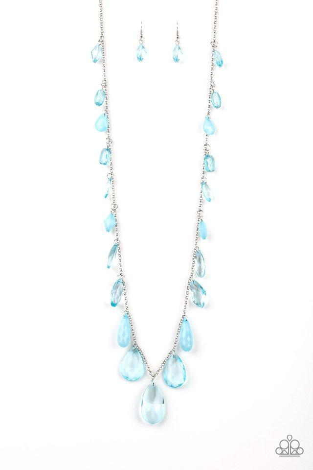 Paparazzi Necklace ~ GLOW And Steady Wins The Race - Blue