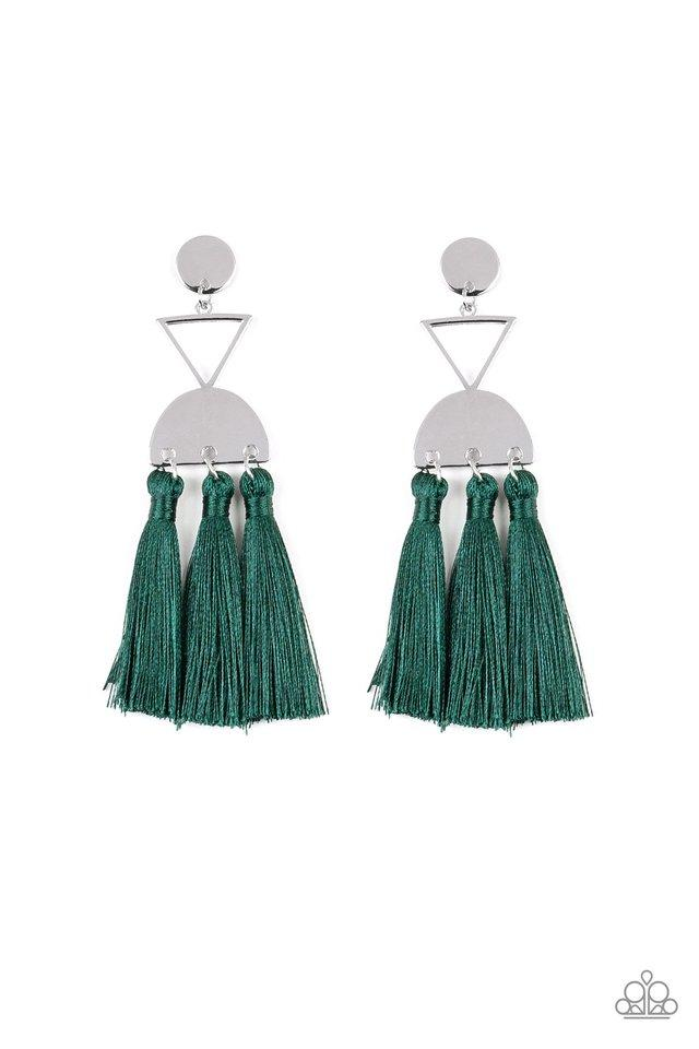 Paparazzi Accessories ~ Tassel Trippin - Green