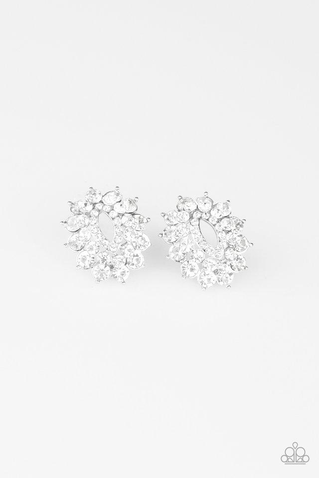 Paparazzi Earring ~ Brighten The Moment - White