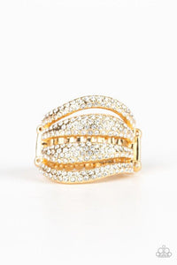 Paparazzi Accessories ~ Roll Out The Diamonds - Gold