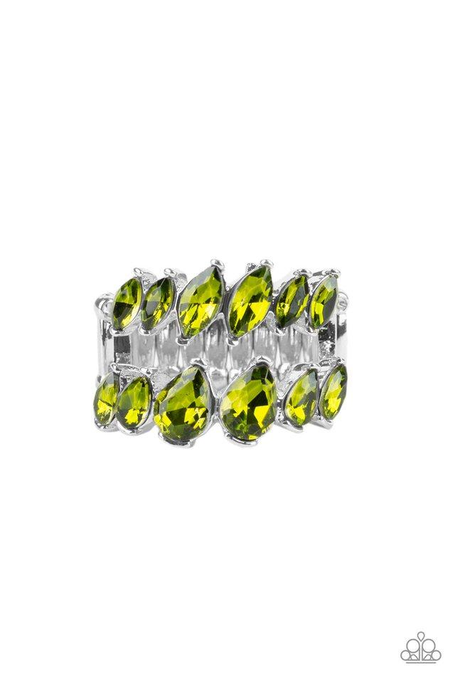 Paparazzi Accessories ~ Timeless Tiers - Green