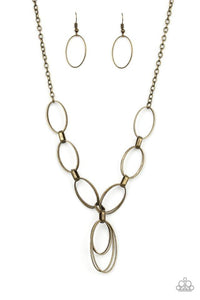 Paparazzi Accessories ~ All OVAL Town - Brass