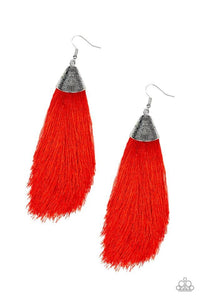 Paparazzi Accessories ~ Tassel Temptress - Red
