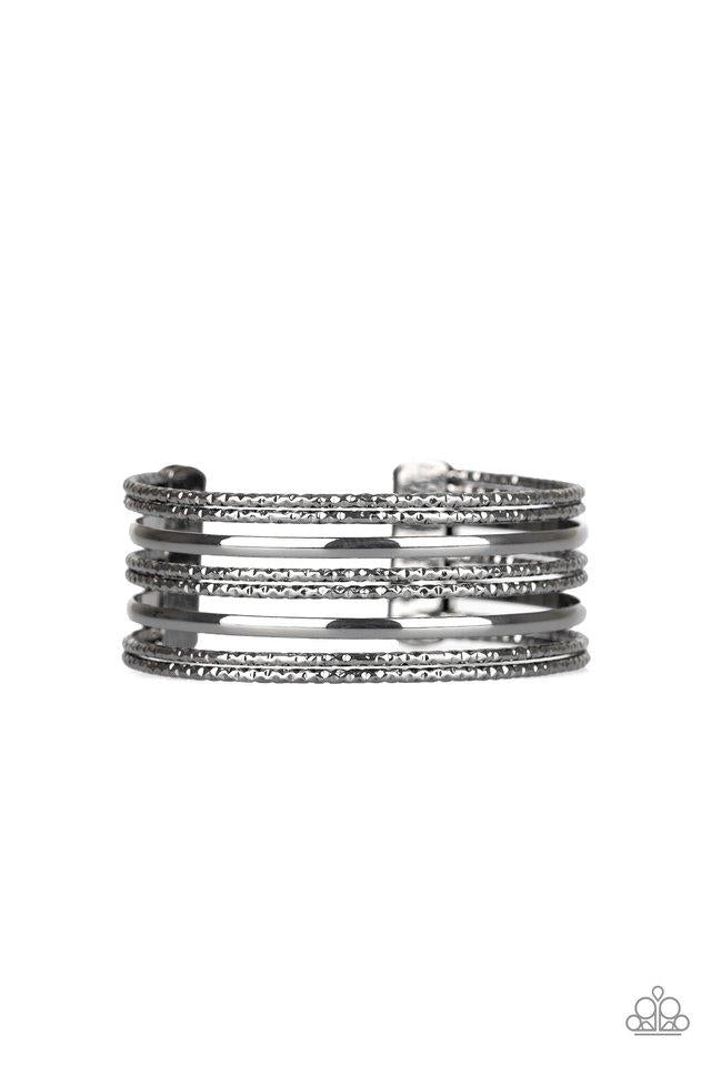 Paparazzi Accessories ~ Stack Shack - Black