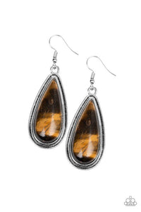 Paparazzi Earring ~ Oasis Sheen - Brown