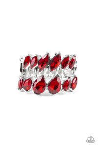 Paparazzi Accessories ~ Timeless Tiers - Red