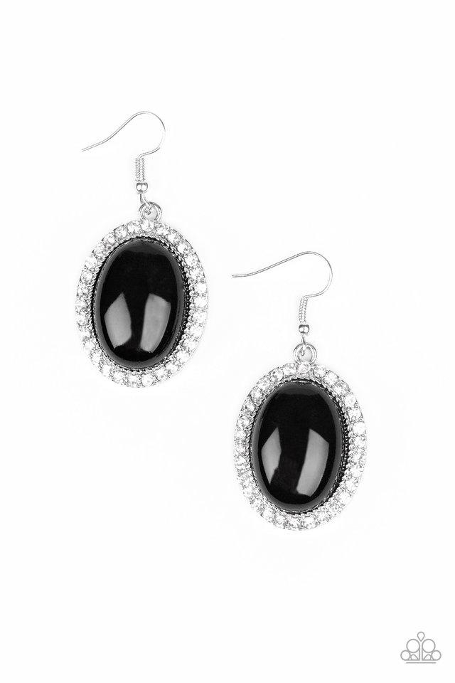 Paparazzi Earring ~ Celebrity Crush - Black
