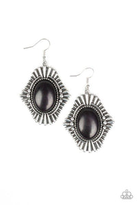Paparazzi Earring ~ Easy As PIONEER - Black