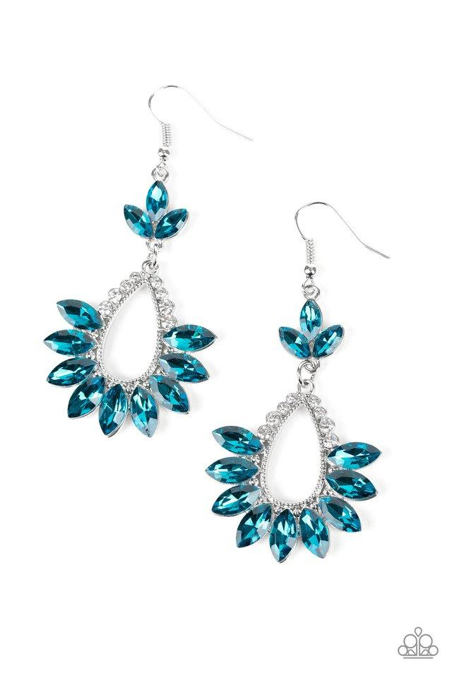 Paparazzi Earring ~ Extra Exquisite - Blue