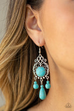 Load image into Gallery viewer, Stone Bliss - Blue - Paparazzi Earring Image