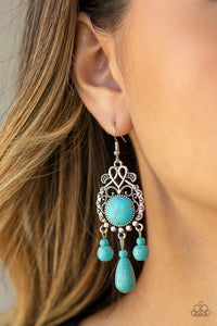 Stone Bliss - Blue - Paparazzi Earring Image