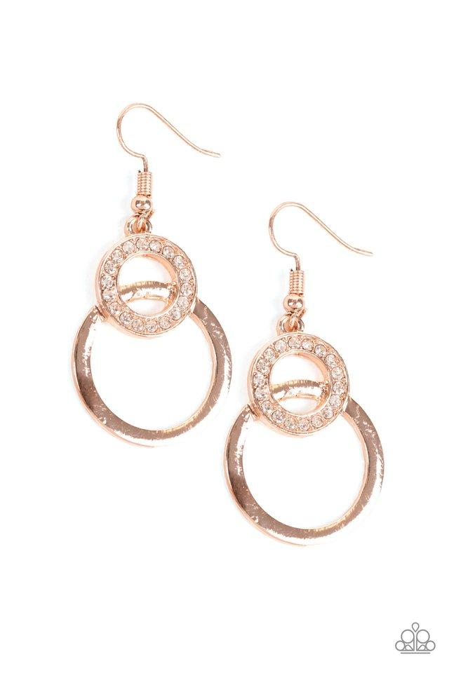 Paparazzi Earring ~ Regal Refinery - Rose Gold