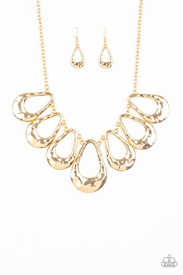 Paparazzi Accessories ~ Teardrop Envy - Gold