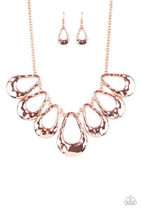 Paparazzi Accessories ~ Teardrop Envy - Copper