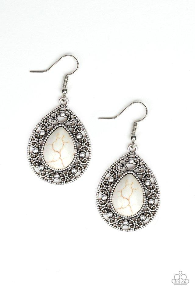 Paparazzi Accessories ~ Stone Story - White