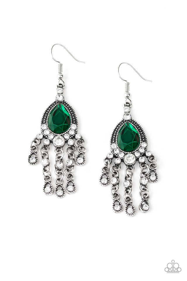 Paparazzi Earring ~ Bling Bliss - Green