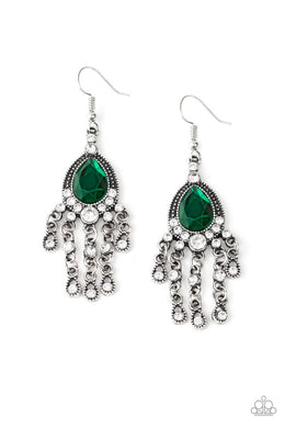 Bling Bliss - Green - Paparazzi Earring Image