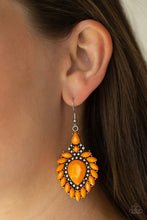 Load image into Gallery viewer, The LIONESS Den - Orange - Paparazzi Earring Image