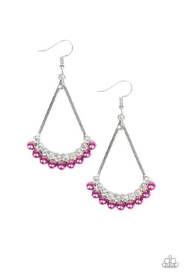 Top to Bottom - Purple - Paparazzi Earring Image
