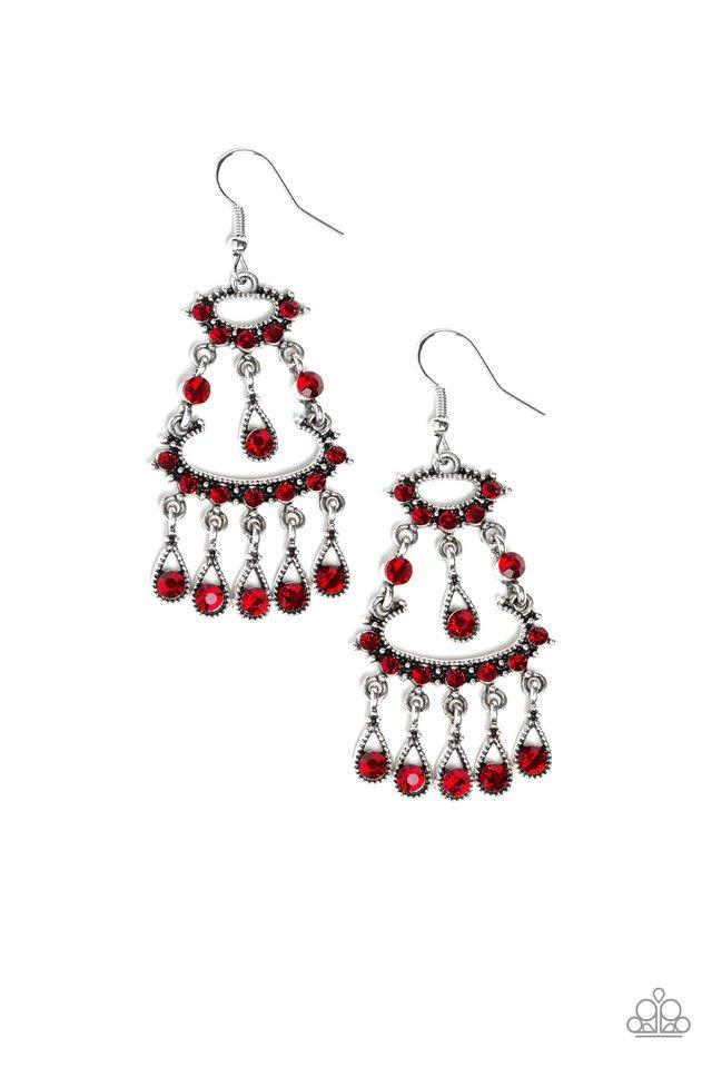 Paparazzi Accessories ~ Chandelier Shimmer - Red