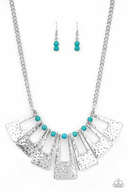 Terra Takeover - Blue - Paparazzi Necklace Image