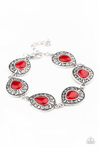 Paparazzi Bracelet ~ Enchantingly Ever After - Red