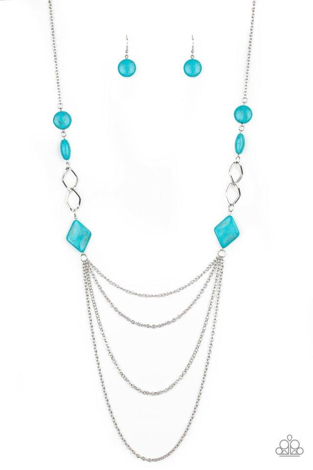 Paparazzi Necklace ~ Desert Dawn - Blue
