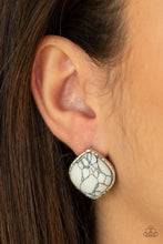 Load image into Gallery viewer, Marble Marvel - White - Paparazzi Earring Image