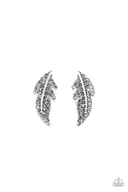 Feathered Fortune - Silver - Paparazzi Earring Image