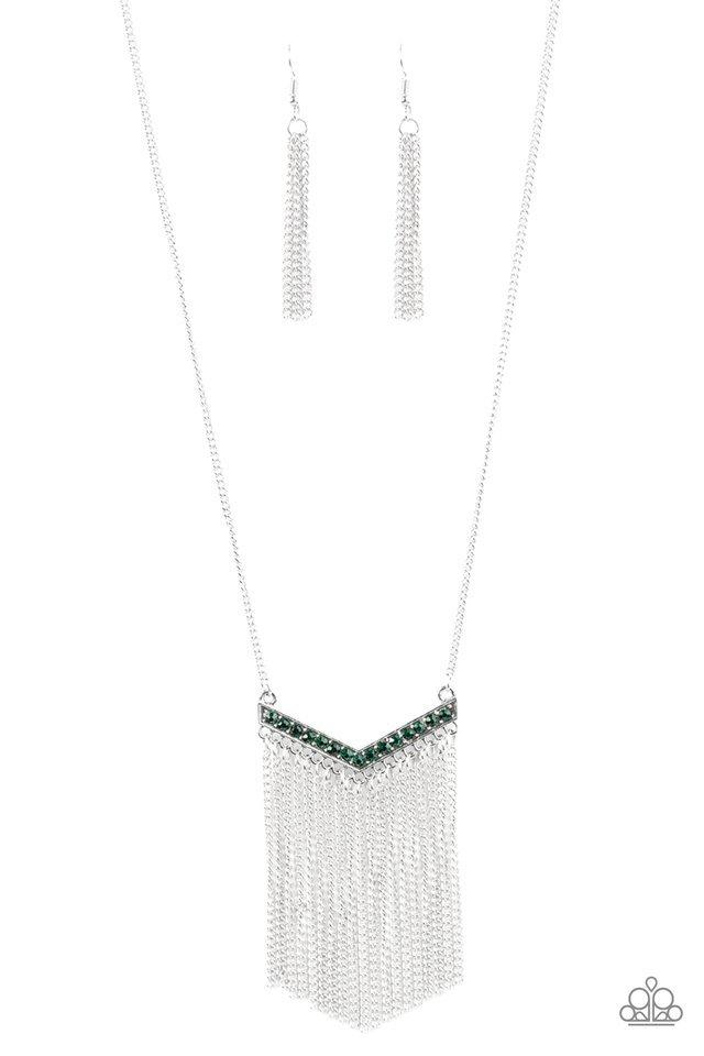 Paparazzi Necklace - Gotta Have Fringe - Green