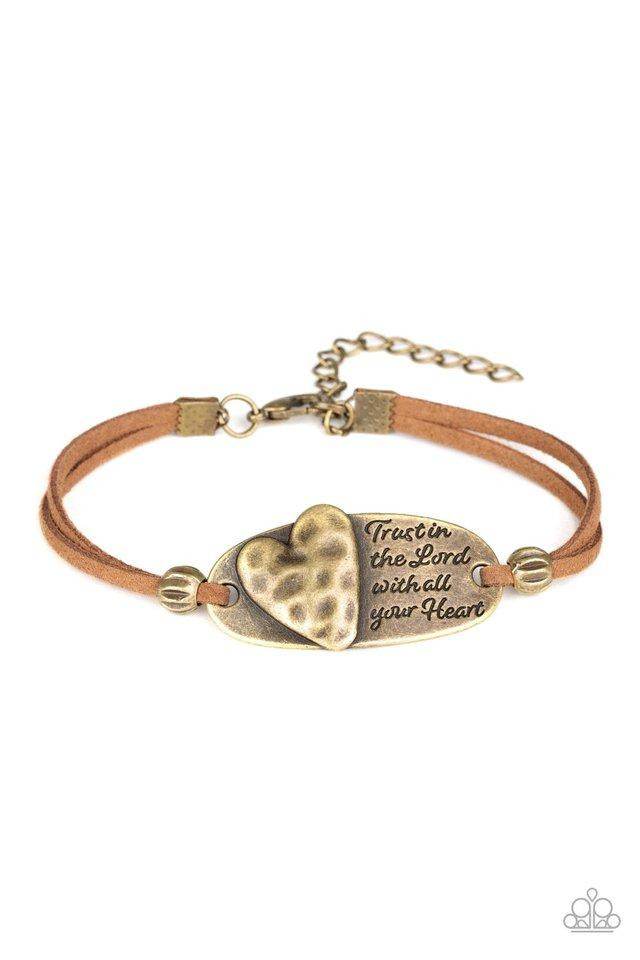 Paparazzi Accessories ~ A Full Heart - Brass