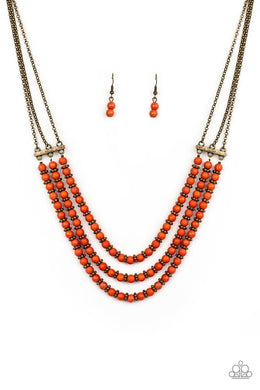 Terra Trails - Orange - Paparazzi Necklace Image