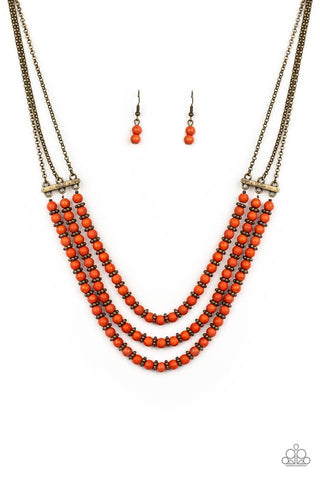 Orange Paparazzi Necklaces