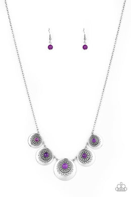 Solar Beam - Purple - Paparazzi Necklace Image